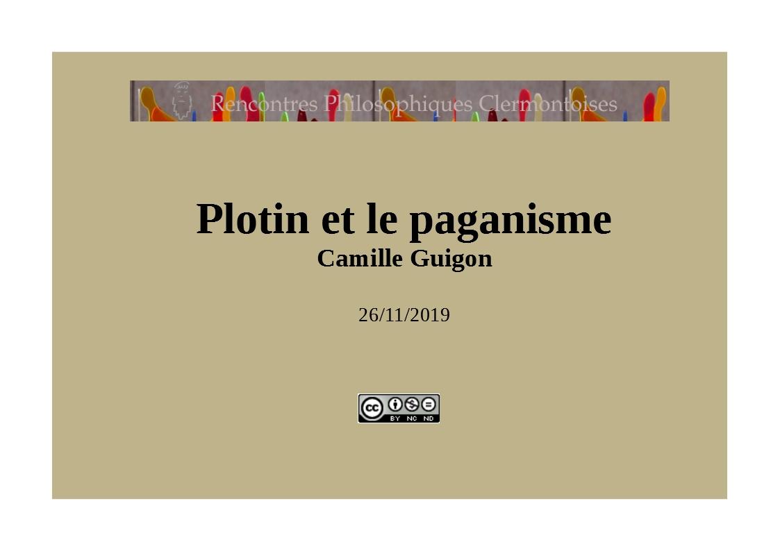 Titre plotin et le paganisme 1
